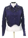 Womens Totally 80s Western Style Crop Top Shirt