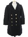 Mens Navy Issue Wool Pea Coat Jacket