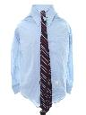 Mens Solid Mod Shirt/Necktie