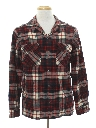Mens Grunge Flannel Board Style Shirt