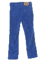 Womens or Girls Tapered Leg Corduroy Pants