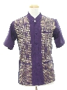 Mens Mod Ethnic Hippie Style Tunic Shirt