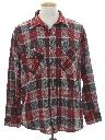 Mens Grunge Wool Blend Flannel Shirt