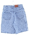 Womens High Waisted Stone Washed Denim Shorts