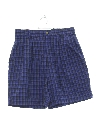 Womens Totally 80s High Waisted Preppy Pleated Shorts