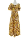 Womens Mod Hawaiian Muu Muu Maxi Dress
