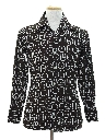 Mens or Boys Print Disco Shirt