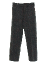 Mens Mod Flat Front Wool Lumberjack Pants