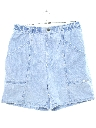 Womens Totally 80s High Waisted Denim Mom Shorts