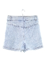 Womens Totally 80s High Waisted Acid Wash Shorts