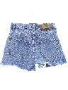 Womens Totally 80s High Waisted Denim Cutoff Shorts