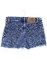 Womens/Girls Distressed Denim Cutoff Shorts
