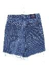 Womens High Waisted Denim Cutoff Mom Shorts