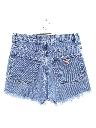 Womens High Waisted Denim Cutoff Shorts