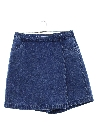 Womens Denim Skort Skirt Shorts