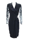 Womens Cocktail Wiggle Style Little Black Overdress Dress