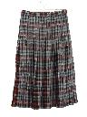Womens Pleated Plaid Skirt