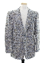 Mens Plaid Disco Blazer Style Sport Coat Jacket