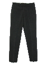 Mens Navy Issue Flat Front Wool Blend Slacks Pants
