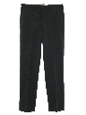 Mens Navy Issue Flat Front Wool Blend Slacks Pants