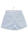 Womens Totally 80s Style High Waisted Denim Shorts