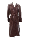 Womens Leather Overcoat Or Trench Jacket