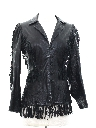 Womens Hippie Leather Fringe Jacket