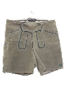 Unisex Suede Leather Lederhosen Oktoberfest Shorts