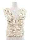 Womens Crocheted Vest