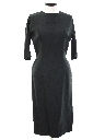 Womens Designer Little Black Wiggle Cocktail Dress