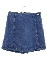 Womens Denim Mini Wrap Skort Skirt Shorts