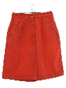 Womens High Waisted Pleated Shorts