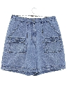 Womens Stone Washed Denim Shorts
