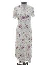 Womens Totally 80s A-Line Maxi Secretary Dress