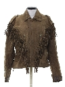 Womens Hippie Western Leather Jacket