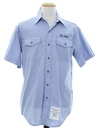 Mens Military Chambray Us Navy Uniform Shirt