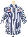 Mens Totally 80s Patriotic Sport Shirt