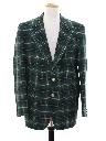 Mens Plaid Disco Style Golf Blazer Sport Coat Jacket