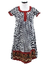 Womens A-Line Ethnic Hippie Dress