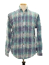 Mens Totally 80s Style Preppy Flannel Shirt