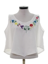 Womens Cropped Hippie Shirt