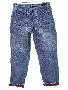 Womens Slightly Tapered Leg Denim Jeans Pants