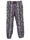 Unisex Ladies or Boys Totally 80s Baggy Print Pants