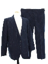Mens Matching 2 Piece Western Style Pinstripe Suit