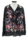 Womens Hippie Style Pullover Print Disco Style Shirt