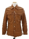 Mens Mod Reversible Leather and Suede Leisure Style Jacket