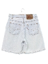 Womens High Waisted Totally 80s Bleached Levis Denim Jeans Shorts