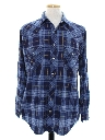 Mens Grunge Flannel Western Shirt
