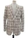 Mens Plaid Blazer Style Sport Coat Jacket