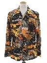 Mens Collectible Photo Print Disco Shirt